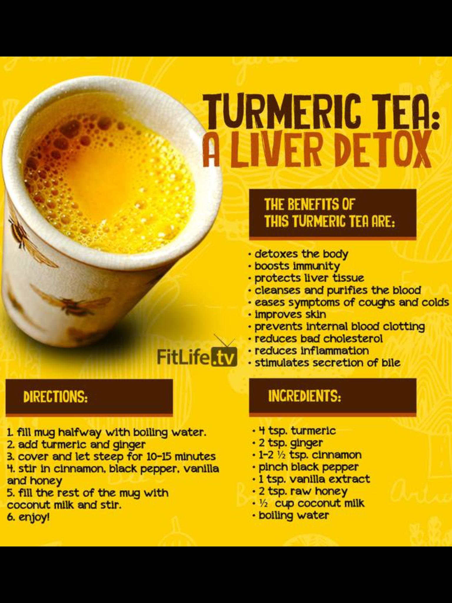 Turmeric tea to detox body  | Tea You Later in 2019 | Turmeric drink