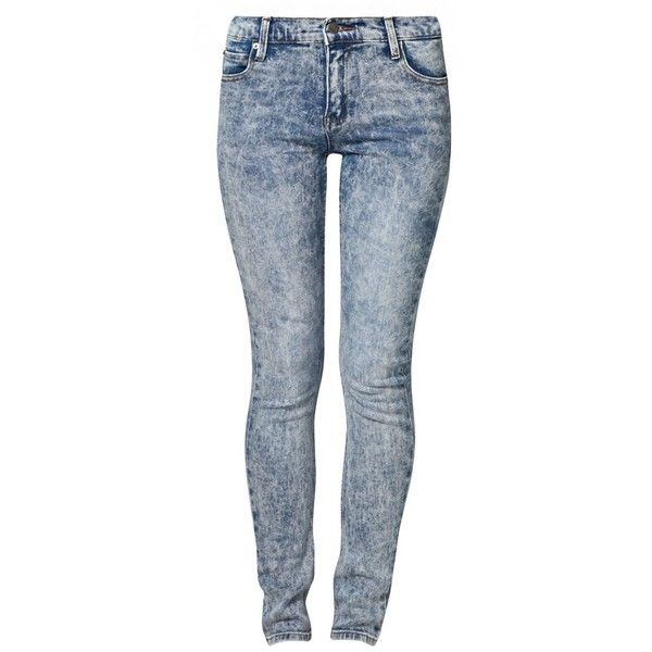 Cheap Monday Slim fit jeans (€53) ❤ liked on Polyvore featuring jeans, pants, bottoms, calças, pantalones, blue, women's trousers, cheap monday, cheap monday jeans and slim cut jeans