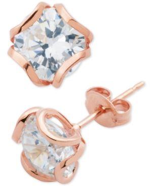 Giani Bernini Cubic Zirconia Petal Stud Earrings, Created for Macy's -