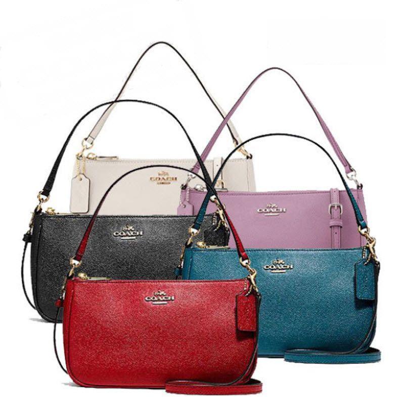 7ec62c56f564 COACH Crossgrain Leather Top Handle Pouch Crossbody Handbag F25591 58321 NWT   Coach  ClutchCrossbodyTote
