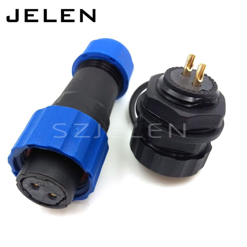 Sd16 16mm Waterproof Connector 2 Pin Ip68 2pin Plug Female And 2pin Socket Male Led Power Connectors Automotive Connectors Led Sockets Waterproof