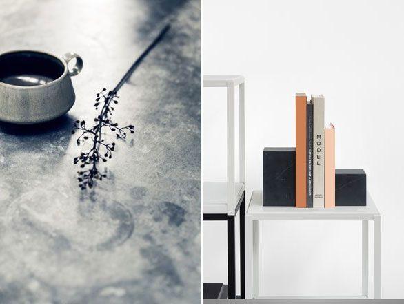 De Marmer Trend : E marmeren boekenstop boekensteun design marmer marble