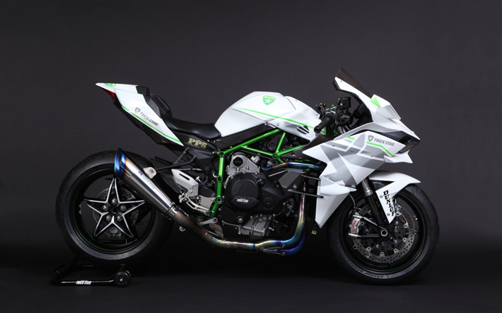 Download Wallpapers Kawasaki Ninja H2r Trick Star Sportbike White