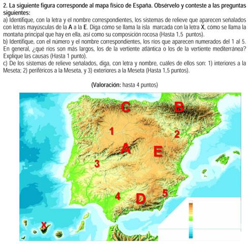 2011 Mapa Fisico Mapa Fisico De Espana Selectividad Andalucia