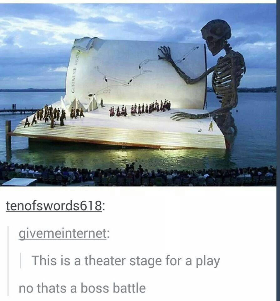 Theater stage.....awesome