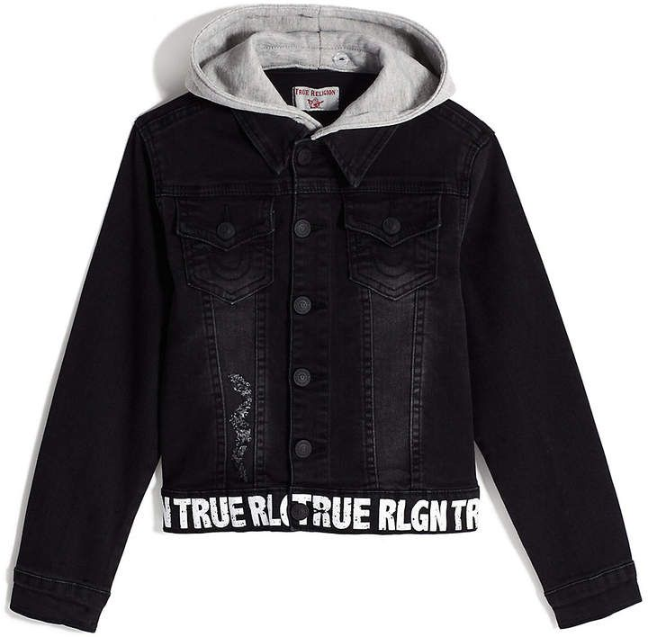 Boys hooded denim jacket (With images) | Denim jacket ...