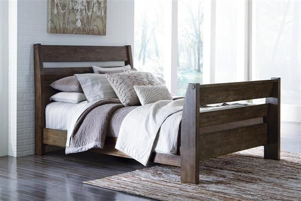 Emerfield Vintage Casual Two Tone King Sleigh Bed Beds Pinterest