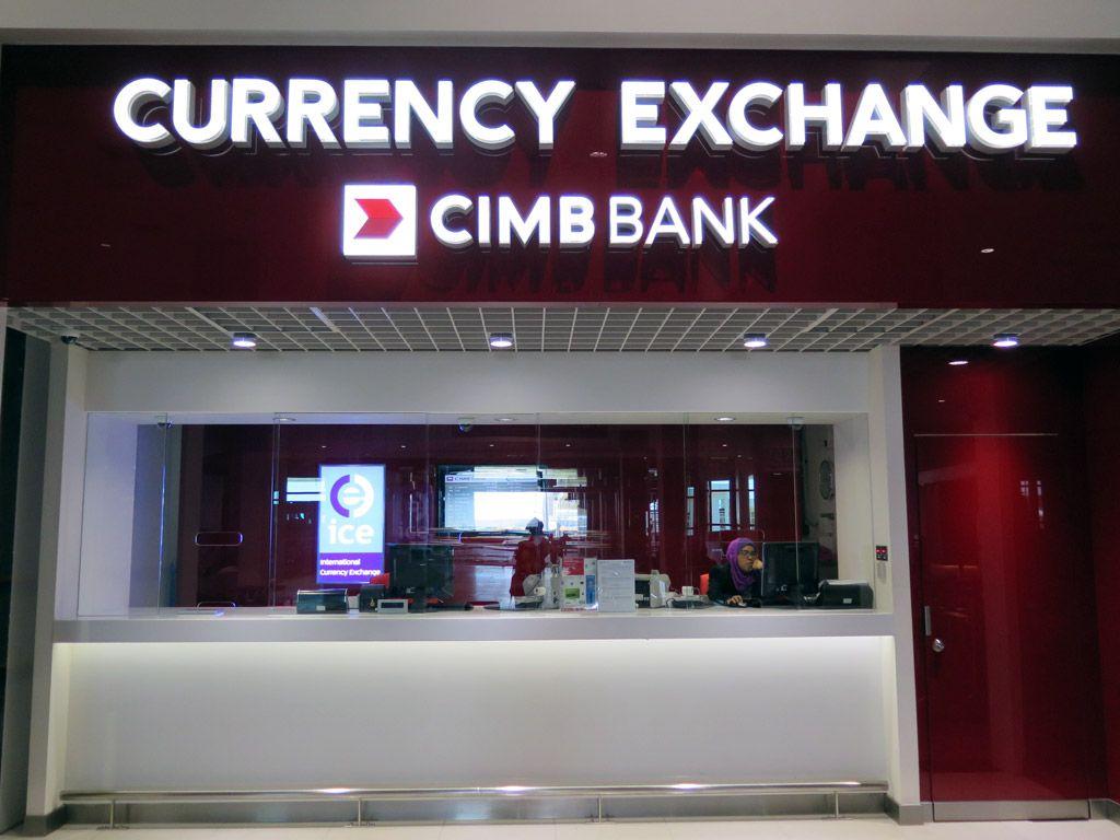 Cimb Bank Currency Exchange Counter Kuala Lumpur International Airport 2 Malaysia