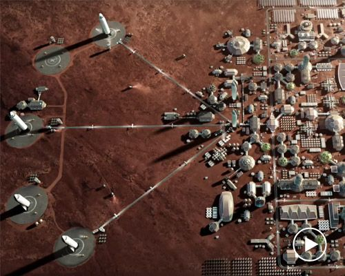 "Pictures Search Results for ""space x mars base art"""