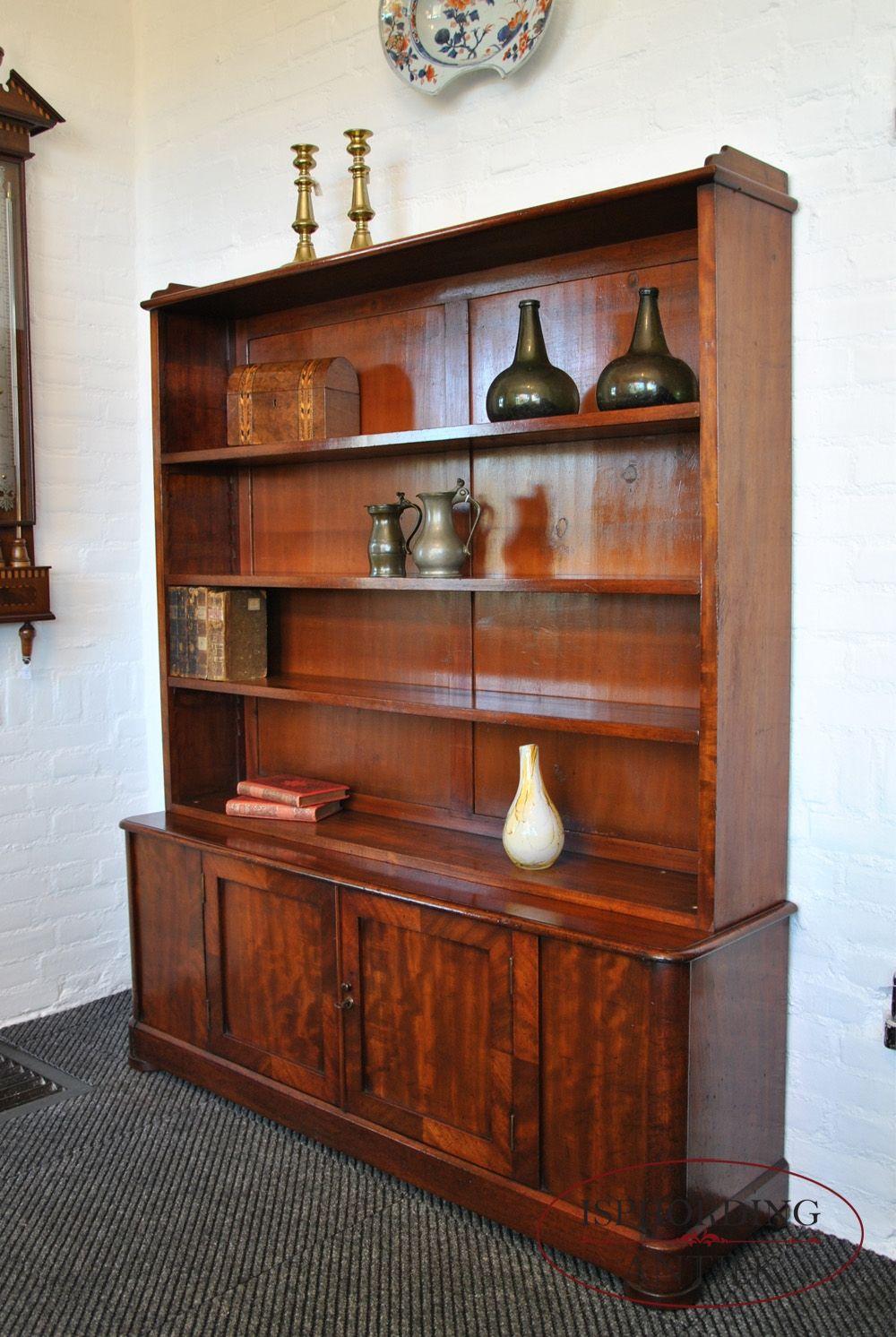 Klein Engels mahoniehouten boekenkastje. - Antieke boekenkast ...