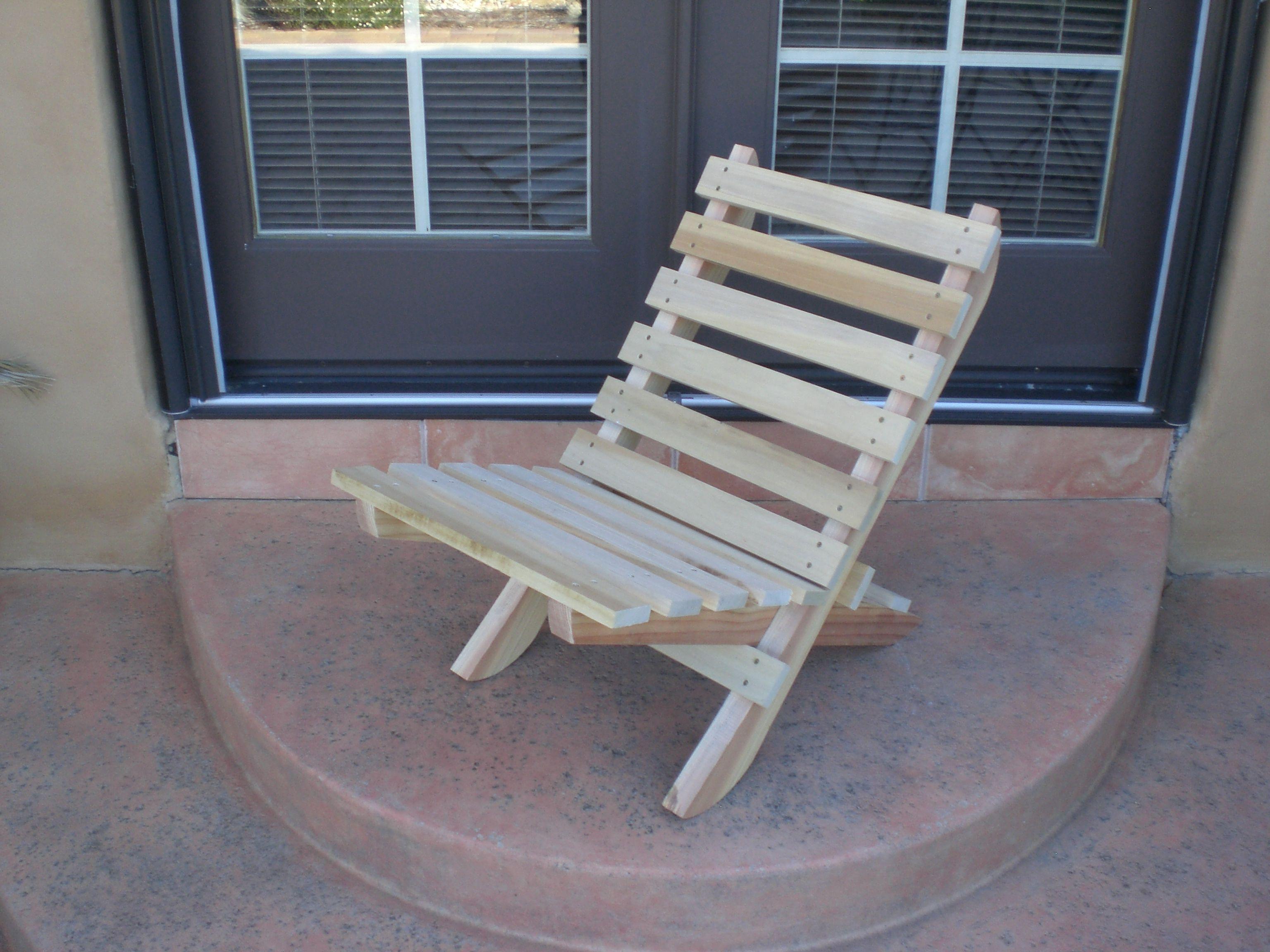 Folding Beach Chair Plan