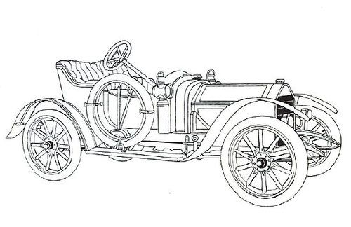 Classic Car Coloring Pages En Dibujos Coches Clasicos