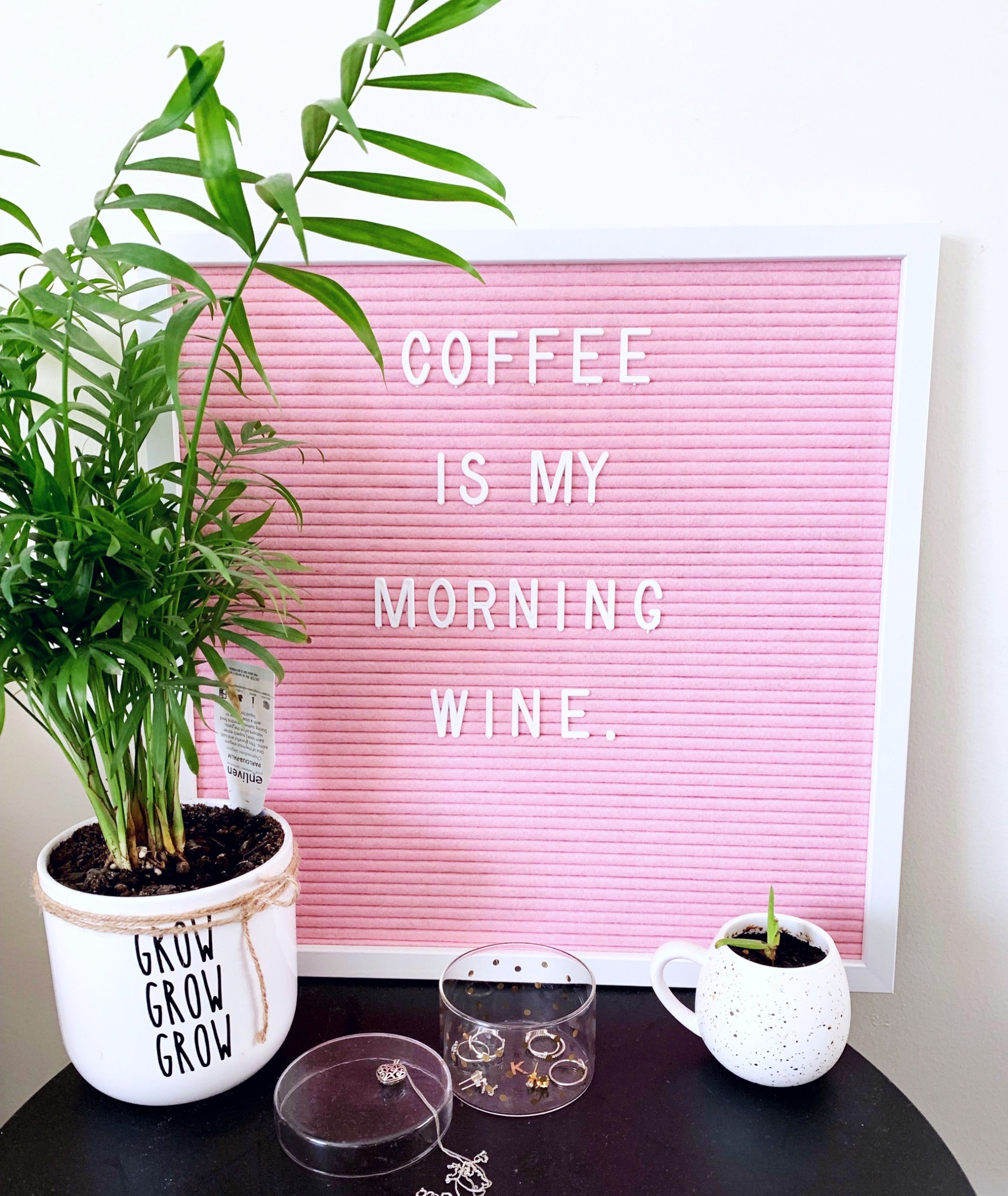 Coffee Is My Morning Wine Funny Quotes Funny Pictures Letter Board