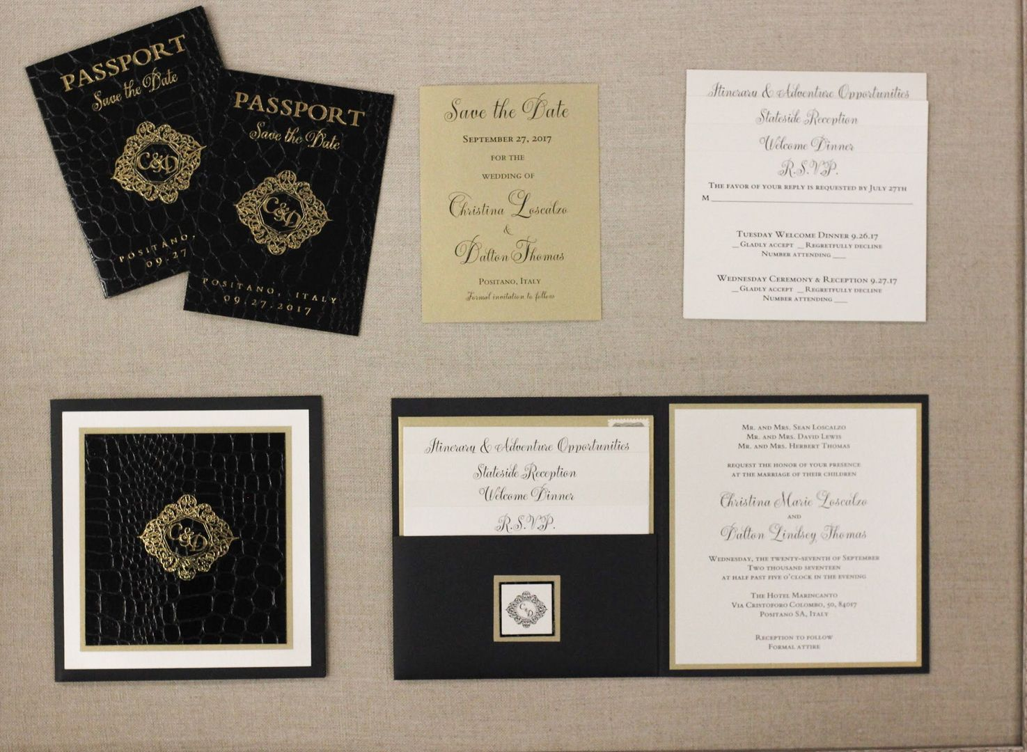 Travel Themed Wedding Invitations with Passport Themed Save the ...