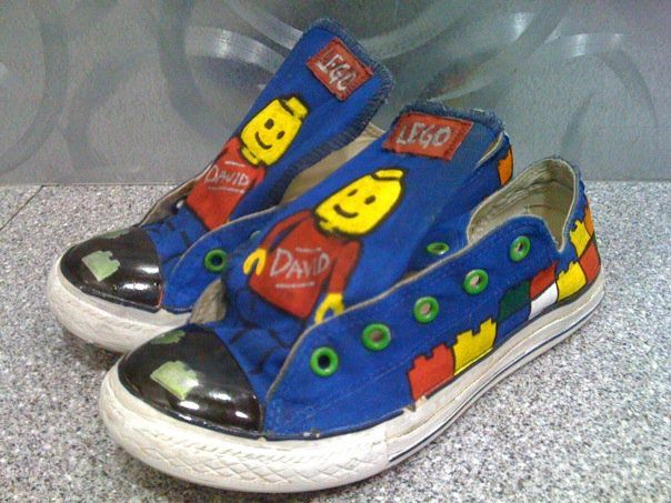 Hand Painted Lego Shoes Are You Interested In Custom Shoes Email Professionalfacepainter Gmail Com For More Information Diy Shoes Custom Shoes Lego Hand