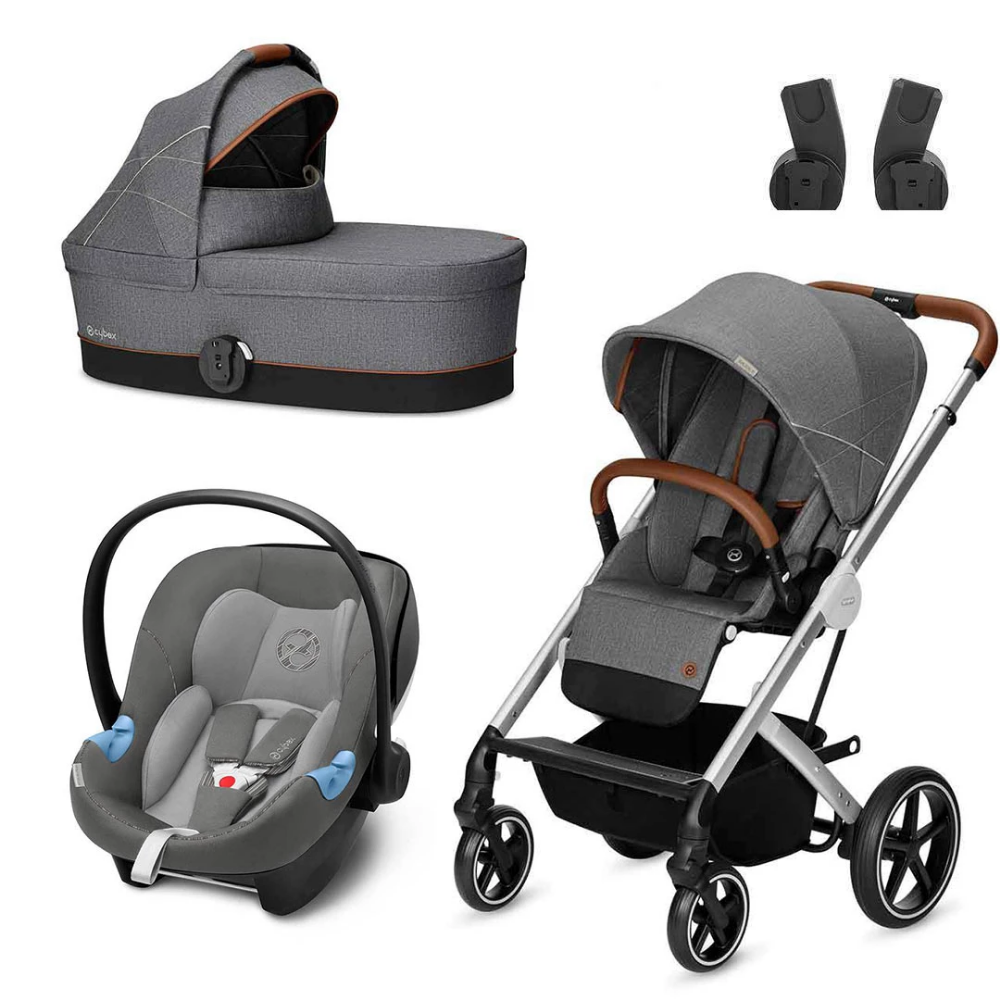 The stylish Manhattan Grey Cybex Balios S in one complete