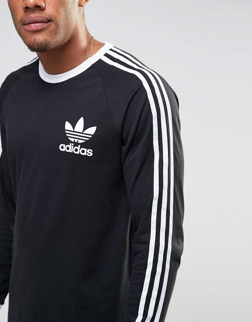 adidas Originals   adidas Originals - adicolor B10657 - Maglia lunga a maniche lunghe nera su ASOS