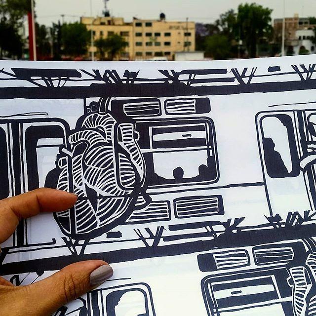 #ilustración #illustration  #heart #linocut