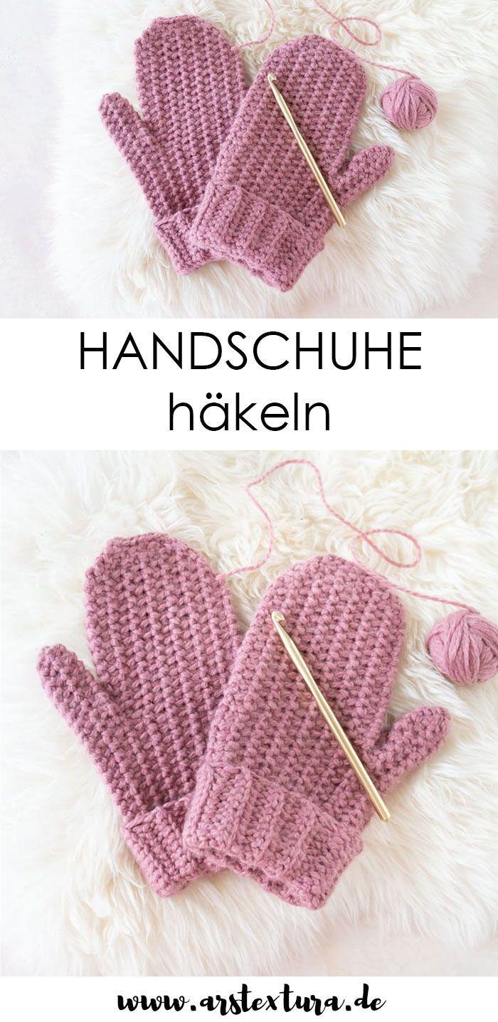 Einfache Handschuhe häkeln | ars textura – DIY-Blog