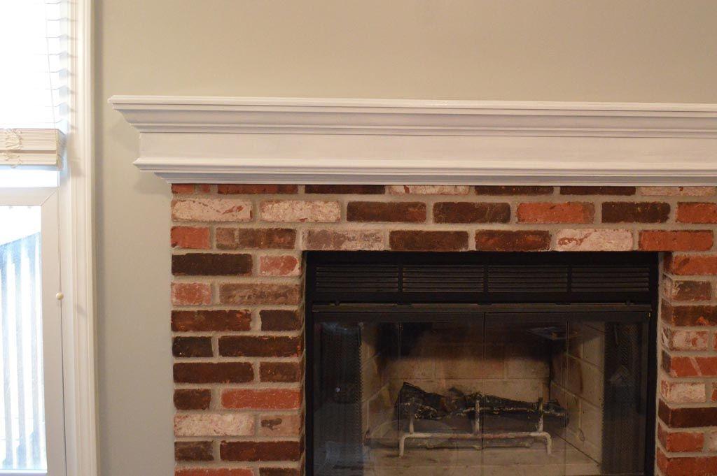 Brick Fireplace White Mantle, White Mantle Brick Fireplace