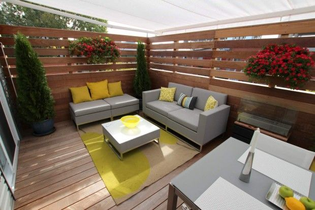 Terrasse sur le toit en ip patios en bois jardin for Toit patio bois