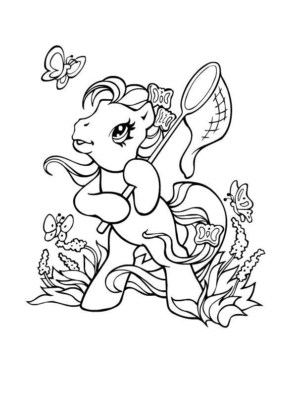 Un petit poney la chasse au papillons v rityskuvia my little pony pinterest petit poney - Coloriage petit poney ...
