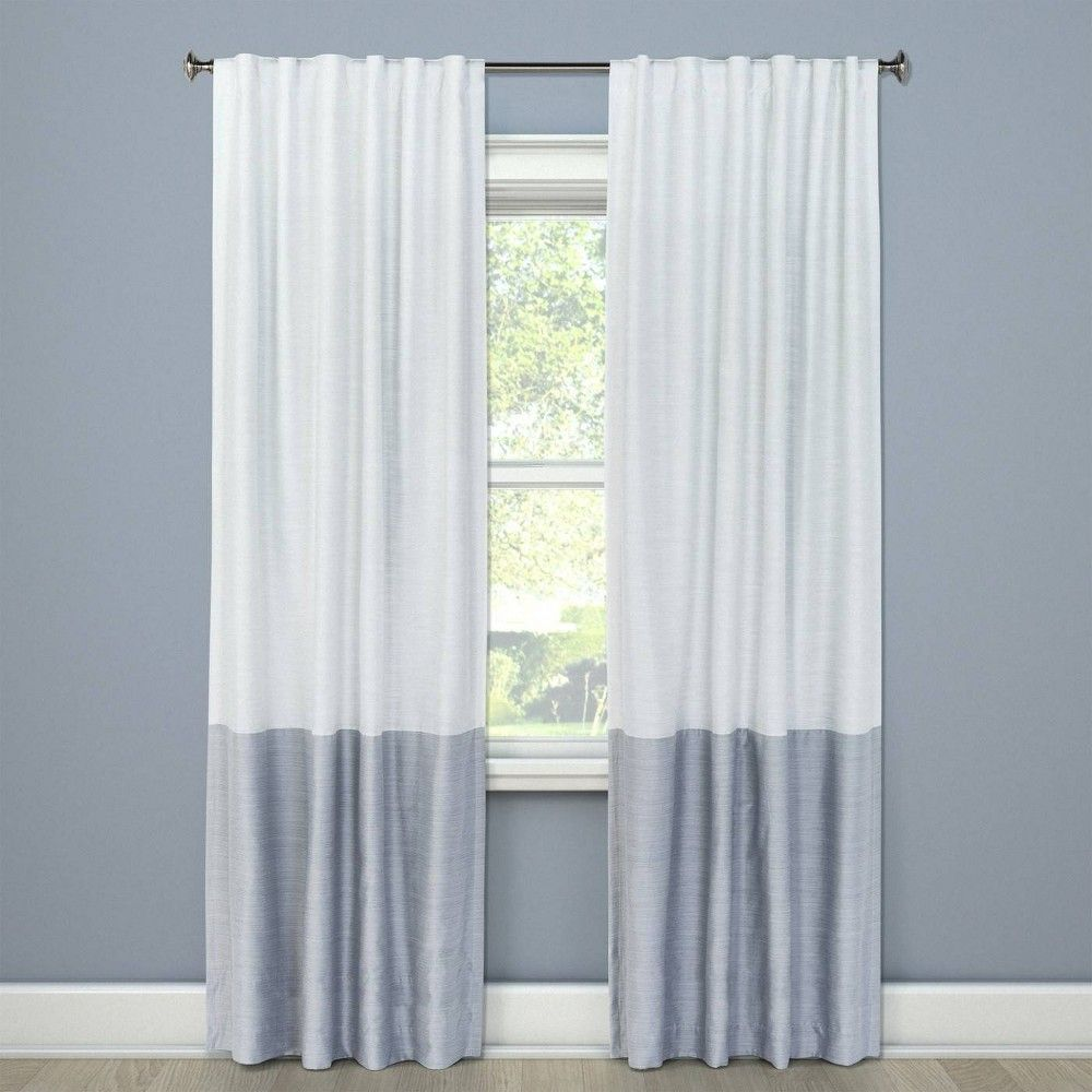 Blackout Curtain Panel Color Block Gray 95 Project 62 Color