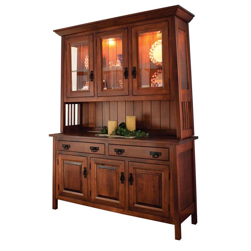 Lovely Amish Oakland Hutch   Amish Furniture   Shipshewana Furniture Co.