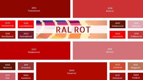 ral rot ral rott ne ral farbtabelle farbe rot rot farbpalette ral farben ral rot pinterest. Black Bedroom Furniture Sets. Home Design Ideas