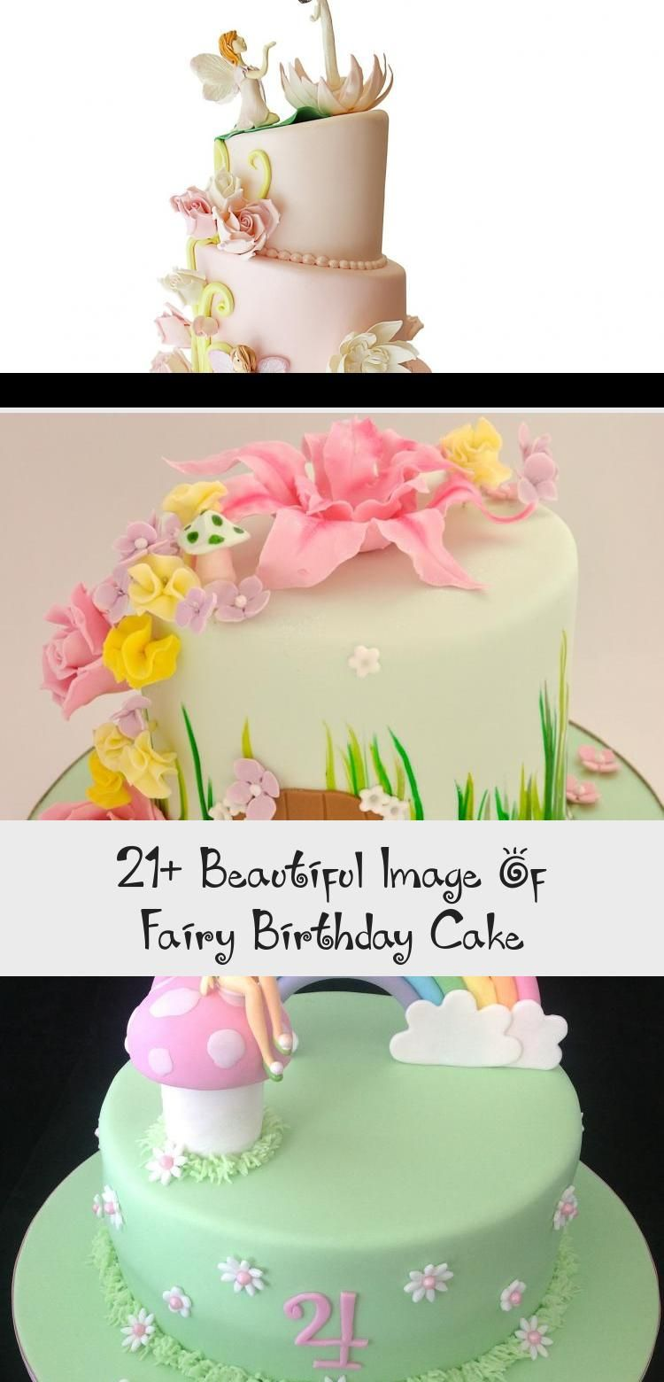 Surprising 21 Beautiful Image Of Fairy Birthday Cake Fairy Birthday Cake Personalised Birthday Cards Bromeletsinfo
