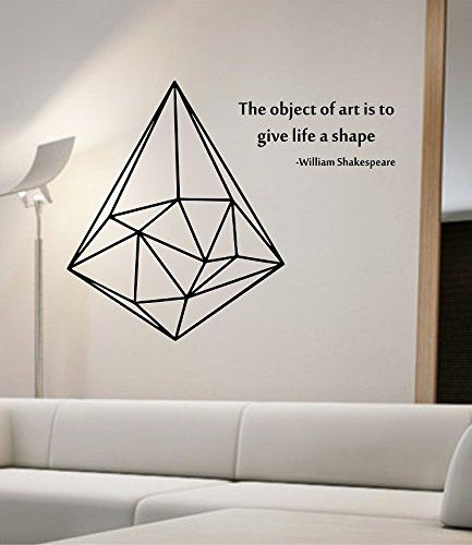 geometric triangle wall decal vinyl art home decor space science