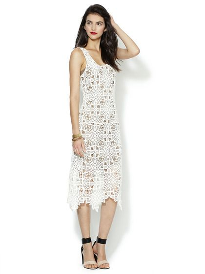 I am really not ready for spring yet.... But looking at this dress and the shoes.....  Cotton Crochet Lace Dress by The Addison Story on Gilt.com