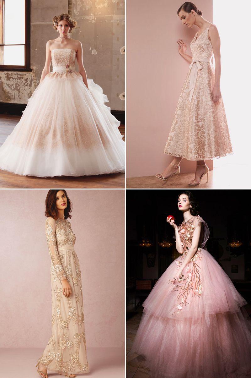 hot color trends for wedding reception dresses reception