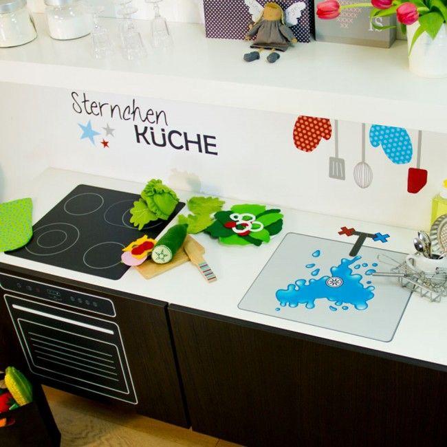 Spielküche selbst bauen mit Designfolie Work Pinterest - küche selbst gebaut