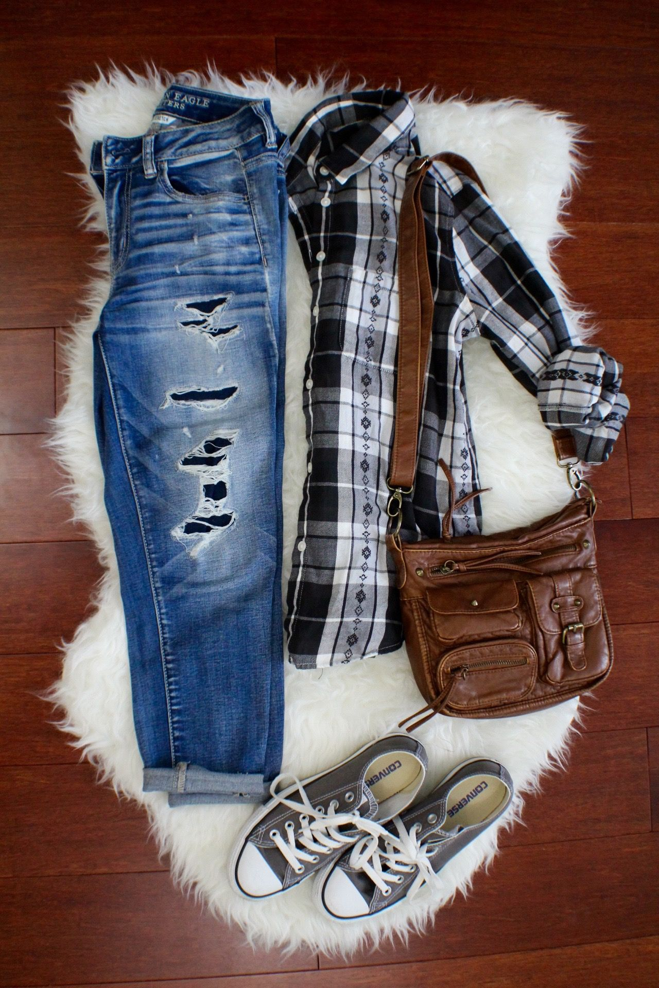 Cute teen girl outfit summer to fall style back to school outfit