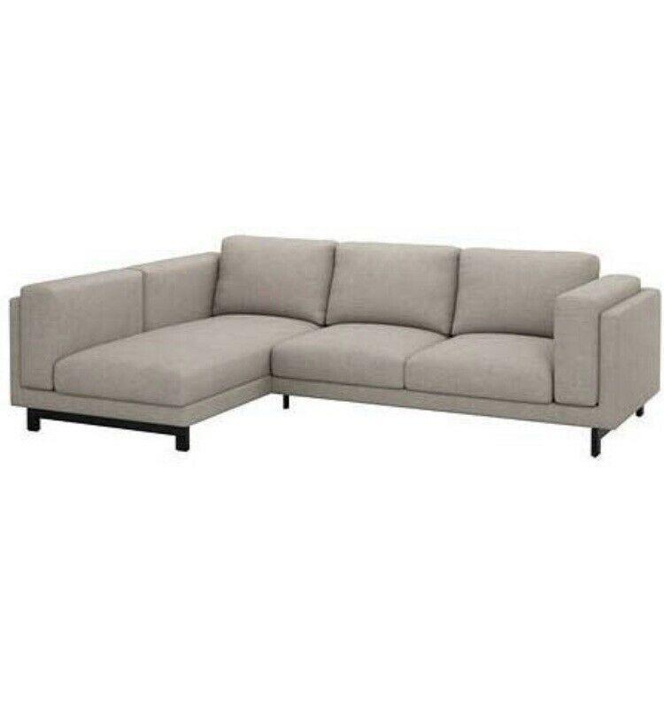 Ikea Nockeby 3 Sitzer Anbausofa Cover Chaise Left Teno Grey 102 838 38 Neu 2020