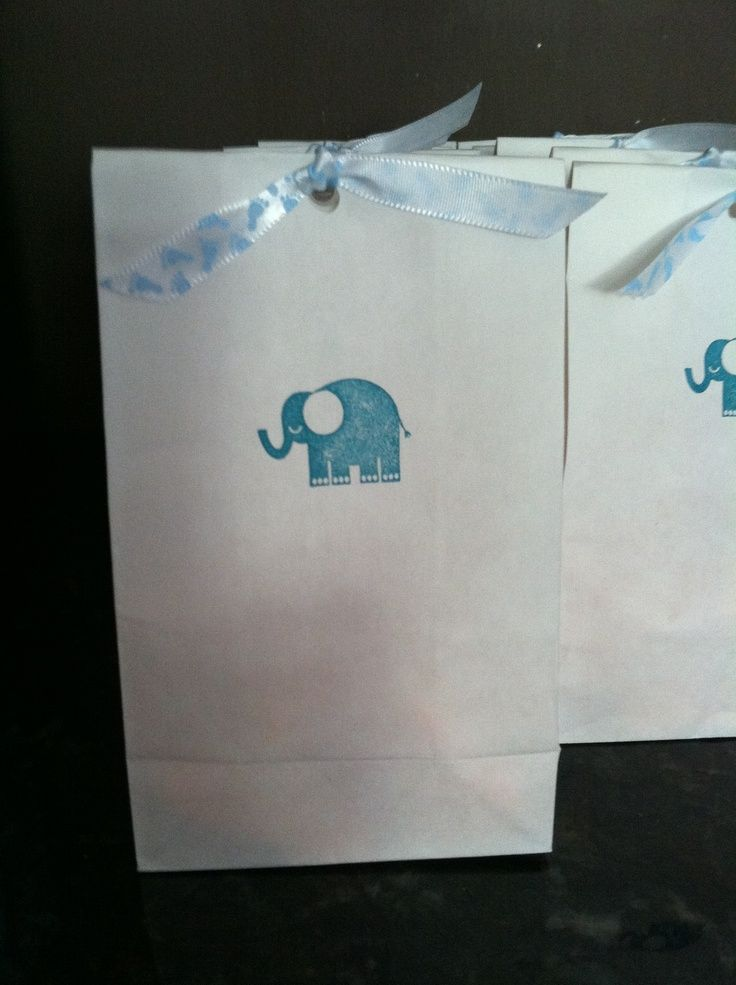 Baby shower ideas - Cute and cheap way to make thank you gift packaging