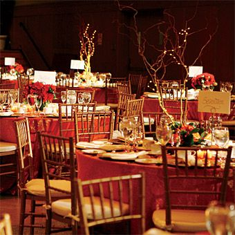 Brides red and gold wedding reception decor in honor of the brides red and gold wedding reception decor in honor of the twosomes love of junglespirit Choice Image