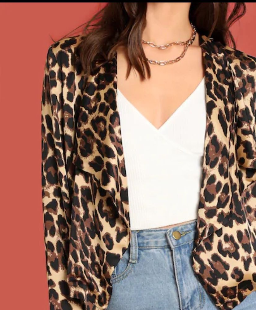 209274ada88e Leopard Print Short Satin Waterfall Coat #fashion #clothing #shoes  #accessories #womensclothing #coatsjacketsvests (ebay link)