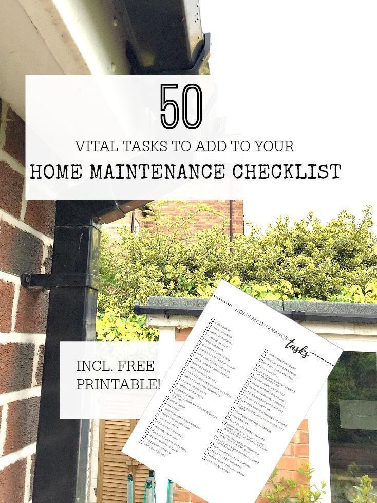 50 vital tasks that should be on your home maintenance checklist, #Checklist #Home #homemain...