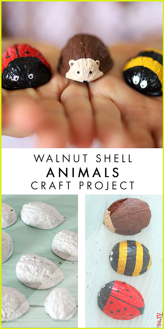 Walnut Shell Animals such a sweet craft to do with the kids Walnut Shell Animals such a sweet craft to do with the kids AnneLene Leni AnneLene Leni This is a really easy...