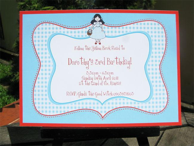 Wizard Of Oz Party Printables Invitations Decorations Invitation Template Diy Party Packs Invitations
