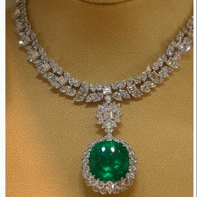Diamond and cabochon emerald necklace that is a lestrange family diamond and cabochon emerald necklace that is a lestrange family heirloom given to the bride as mozeypictures Choice Image