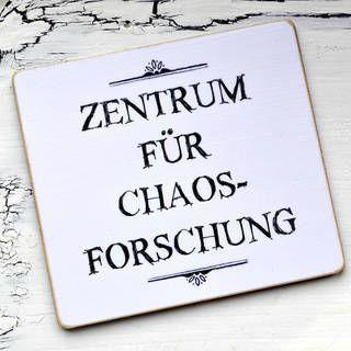 Photo of Kühlschrank-Magnet ZENTRUM für CHAOSFORSCHUNG #funnytexts Kühlschrank-Magnet …
