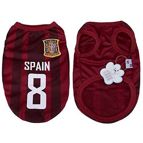 570f9c4646e 2014 World Cup Soccer Football Jersey Shirt Tee Pet Cat Puppy Small Dog  Clothes- Spain