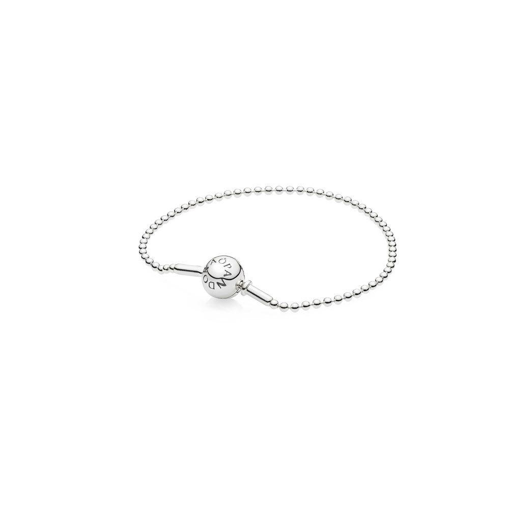 Beaded sterling silver bracelet Pandora