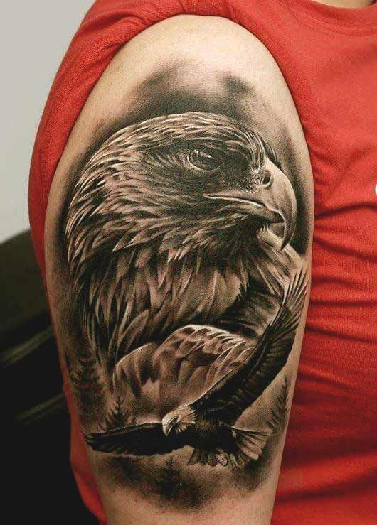 50 Amazing Perfectly Place Eagle Tattoos Designs With Meaning Eagle Head Tattoo Eagle Tattoos Eagle Tattoo