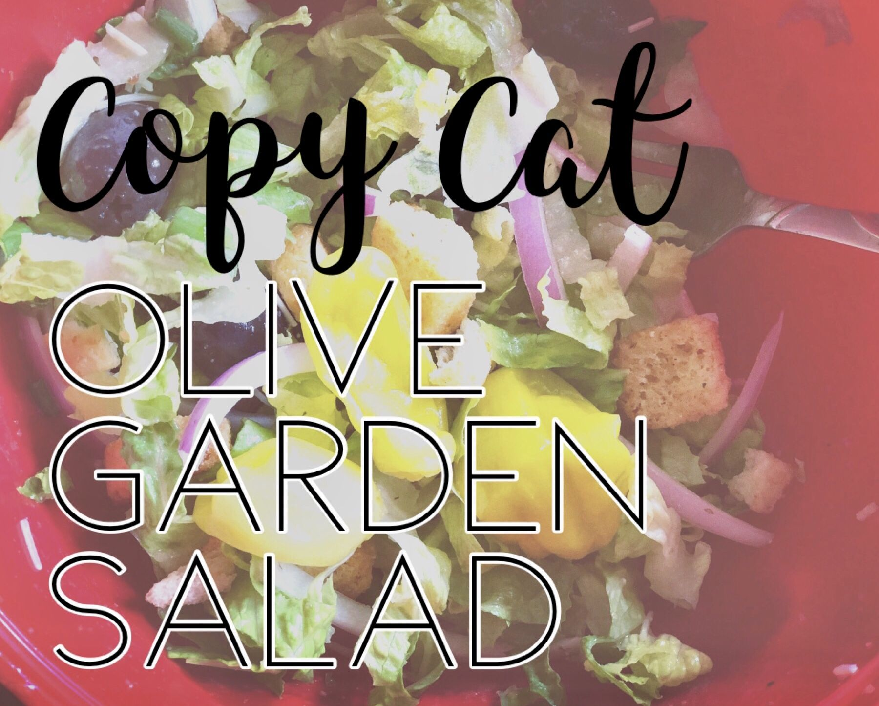 (Copy Cat) Olive Garden Salad Recipe (With images) Olive