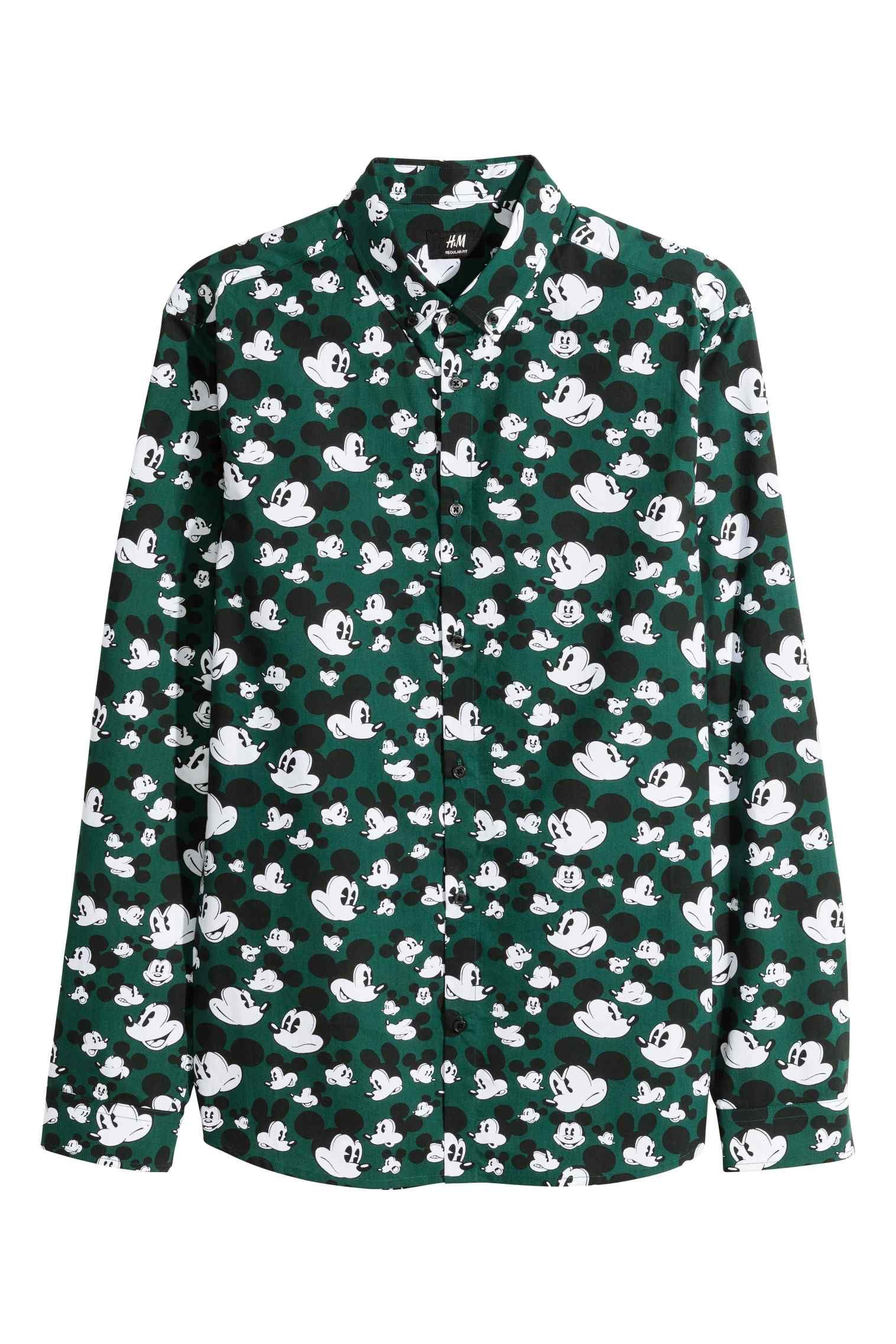 e40f57ec71 Camisa verde Mickey Mouse H M
