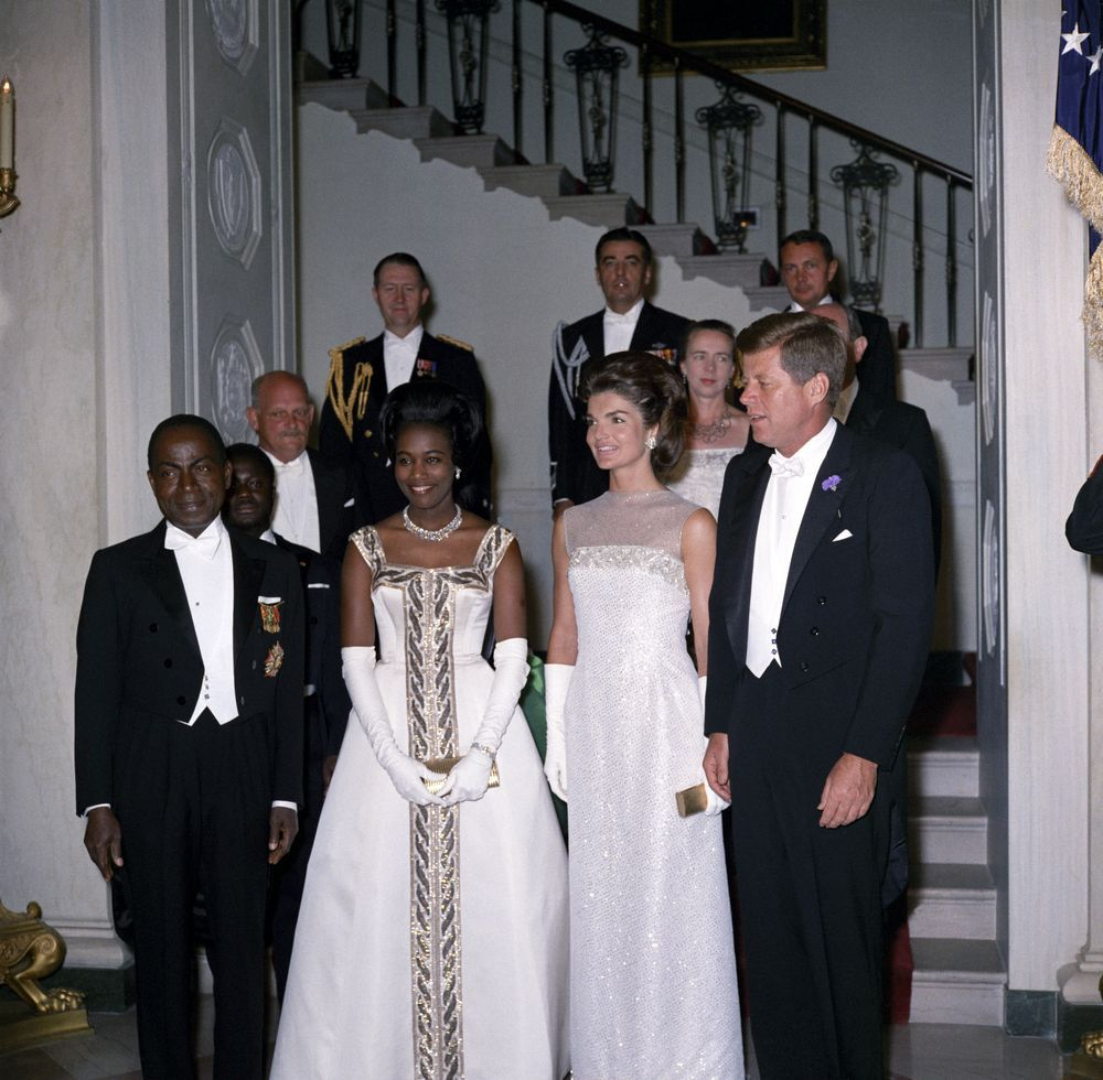May 22, 1962: President John F. Kennedy Attends Dinner in Honor of President of the Ivory Coast, Félix Houphouët-Boigny. Photographed by Robert L. Knudsen